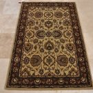 4x6 WOOL AREA RUG PERSIAN BEIGE RED HAND MADE TUFTED