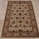 4x6 WOOL AREA RUG PERSIAN BEIGE GREY HAND MADE TUFTED