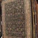 9x12 WOOL AREA RUG PERSIAN SAROUK BLACK TREE OF LIFE