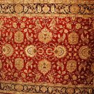 8x10 WOOL AREA RUG PERSIAN HANDMADE RED BLACK GREEN