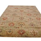 9x12 AREA RUG GREEN RUST HANDMADE TWISTED WOOL KNOTTED