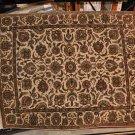 8x10 JAIPUR WOOL HANDMADE RUG IVORY GREEN GOLD PERSIAN