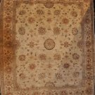 7x8 AREA RUG WOOL HANDMADE VEGETABLE DYE CHOBI IVORY