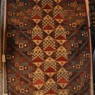 6x8 AREA RUG WOOL HANDMADE VEGETABLE DYE RUST MODERN