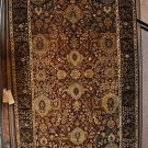 5x8 AREA RUG WOOL HAND KNOTTED FINE JAIPUR RED BLACK