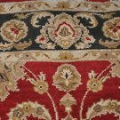 5x8 AREA RUG ALL WOOL HAND KNOTTED JAIPUR RED CHARCOAL