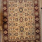 5x7 AREA RUG WOOL HANDMADE VEGETABLE DYE CHOBI IVORY
