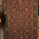5x8 AREA RUG ALL WOOL HAND KNOTTED JAIPUR RED BLACK