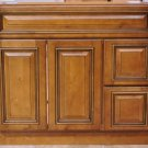 36 Inch Heritage Caramel Contemporary Bathroom Vanity Right Drawers Cabinet 36""