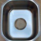 "15"" x 13"" x 7"" Stainless Steel 18ga Undermount Kitchen Single Bowl Prep Sink"