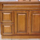 36 Inch Heritage Caramel Contemporary Bathroom Vanity Left Drawers Cabinet 36""