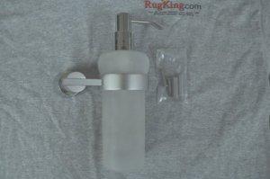 Glass Chrome Liquid Soap Bathroom Kitchen Sanitizer Lotion Dispenser Wall Mount
