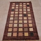 3x6 HANDMADE VEG DYE CONTEMPORARY WOOL RUG PAKISTAN CHOCOLATE PASTEL MIX