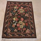 2x4 HANDMADE AREA RUG PERSIAN FINE FLOWERS FLORAL NEW ZEALAND WOOL 16/16