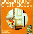 Decorating & Craft Ideas Made Easy - August 1973 - Magazine Back Issue - Quilling, decoupage