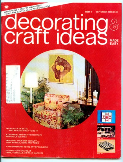 Decorating & Craft Ideas Made Simple - September 1974 - Magazine Back Issue - Design jewelry