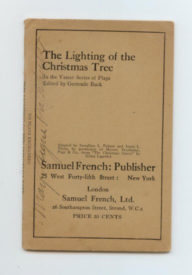 The Lighting of the Christmas Tree by Gertrude Buck (1921) Vassar Series of Plays
