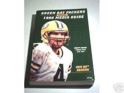 Green Bay Packers Official 1998 Media Guide - Blumb, Jeff, Brett Favre, Reggie White