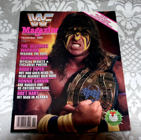 World Wrestling Federation WWF Magazine November 1989 - Andre the Giant, Koko, Roddy Piper