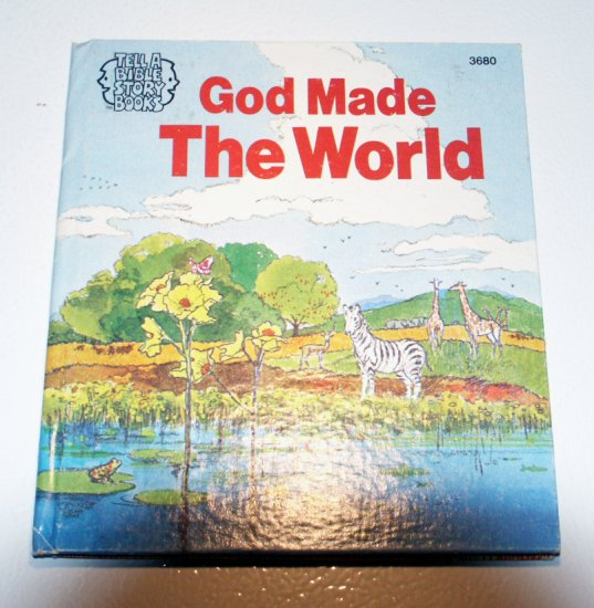 God Made the World - Tell A Bible Story Books - Illustrated by Nancy Inderieden
