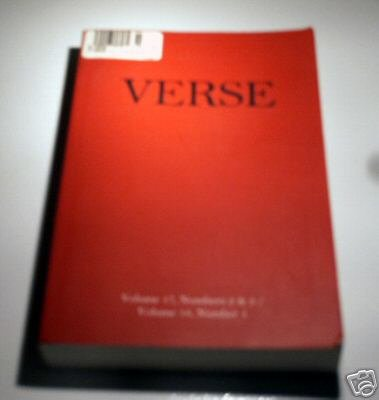 VERSE - Journal/Magazine - Volume 17, Numbers 2 & 3; Volume 18, Number 1 - The Scottish Arts Council