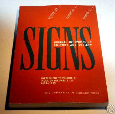 SIGNS Journal of Women Culture and Society - Index of Volumes 1-20 1975-1995