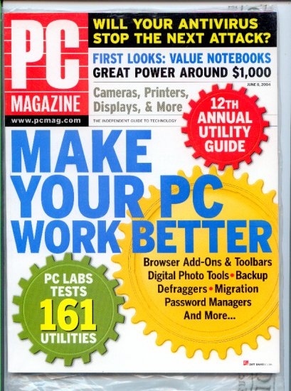 PC Magazine June 8, 2004 - Back Issue - Make Your PC Work Better 161 Utilities