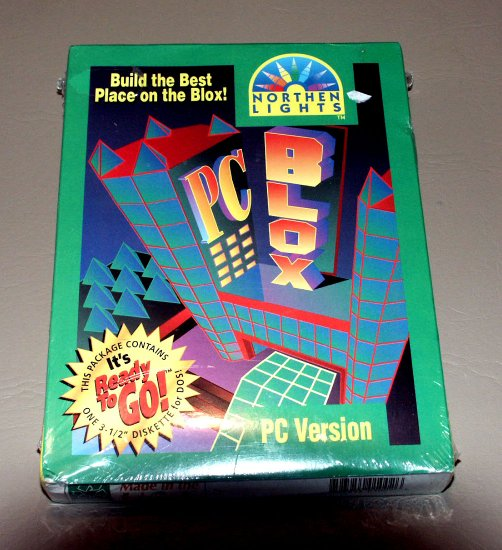 PC BLOX by Northern Lights - virtual reality program in 3-D (CAD) - Vintage PC DOS