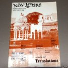 NEW LETTERS: A Magazine of Fine Writing - Summer 1985 - Volume 51 - Number 4