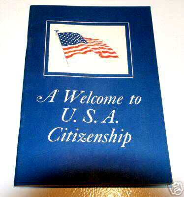 A Welcome to U.S.A. Citizenship Guide Vintage - U.S. Immigration Service M-76 (1967)