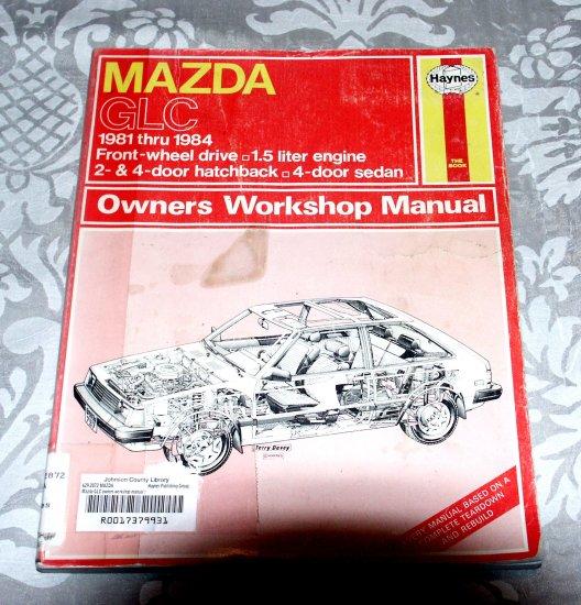 Haynes Mazda GLC Repair Service Guide Manual 1981-84