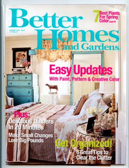 Better Homes and Gardens Magazine - January 2007 - Easy Updates