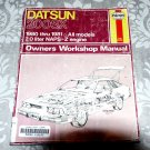 Datsun 200 SX '80'83 (Haynes Manuals) Chilton - Automotive Repair Guide to Service