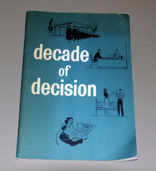 Decade of decision by Jerome Bernard Cohen - Institute of Life Insurance (1961)