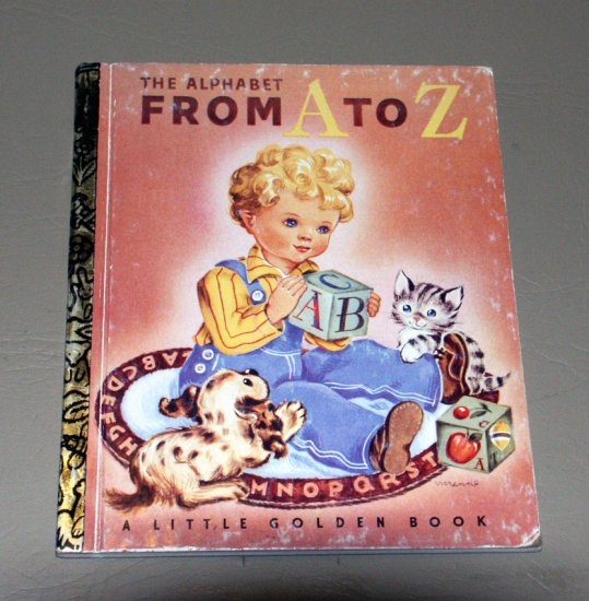 The alphabet from A to Z (Little golden books) by Leah Gale