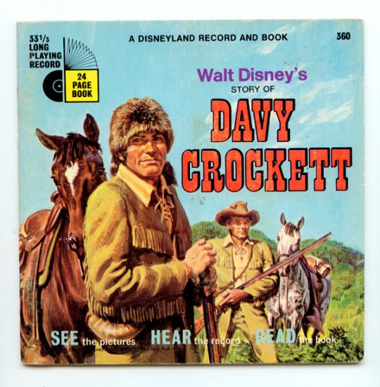 Walt Disney's Story of Davy Crockett - A Disneyland Record and Book