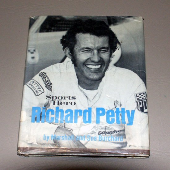 Sports Hero, Richard Petty (Hardcover 1974) by Marshall. Burchard