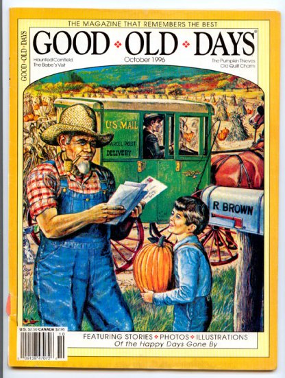 Good Old Days Magazine - October 1996 (Back Issue) - Old Quilt Charm