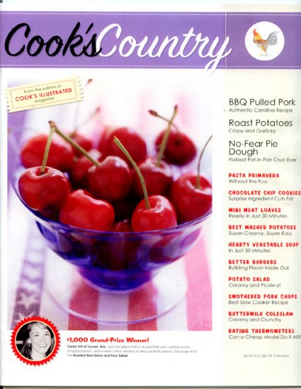 Cook's Country Magazine from Cook's Illustrated - BBQ Pulled Pork, Buttermilk Coleslaw