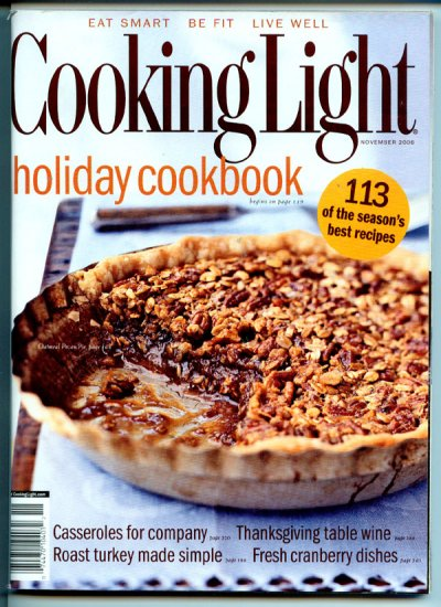 Cooking Light Magazine - November 2006 - Holiday Cookbook, Fresh Cranberry Dishes