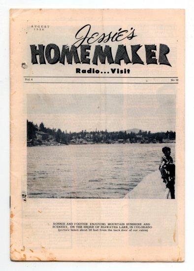 Jessie's Homemaker Radio Magazine - August 1950 - Volume 4, No. 12