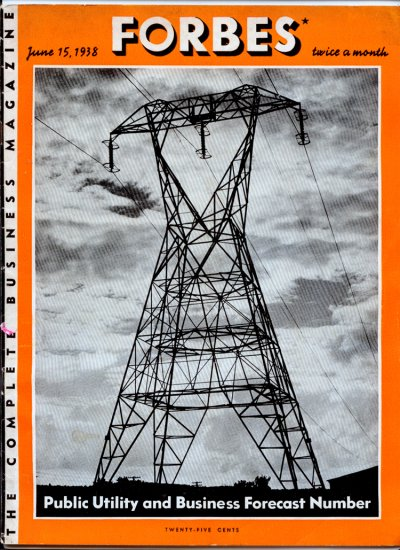 Forbes Magazine - June 15, 1938 (Vol. 41, No. 12) Business Men Forecast the Future
