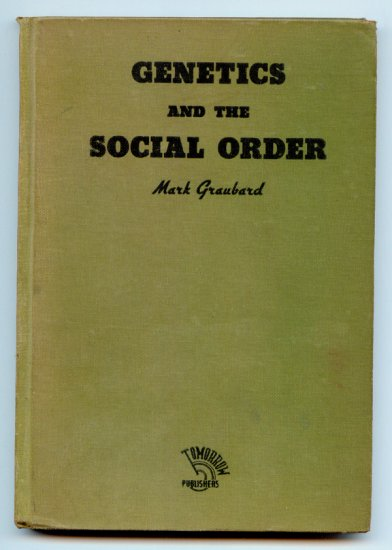 Genetics and the Social Order (Hardcover 1935) by Mark Graubard
