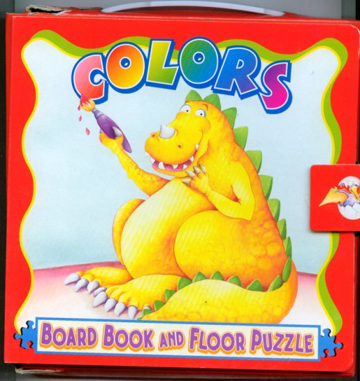DINOSAURS Colors Play and Learn Board Book & Floor Puzzle by Kids Books Inc.