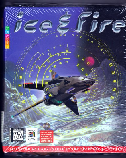 Ice & Fire by Zombie (3D Action and Adventure) (PC CD-ROM Video Game) Retail Box