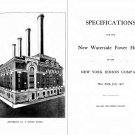 Specifications for the New Waterside Powerhouse of the New York Edison Company New York (1907) [PDF]