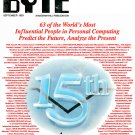 BYTE Computer Magazine (Sept 1990) 15 Year Anniversary Summit Special Issue - Predict the Future
