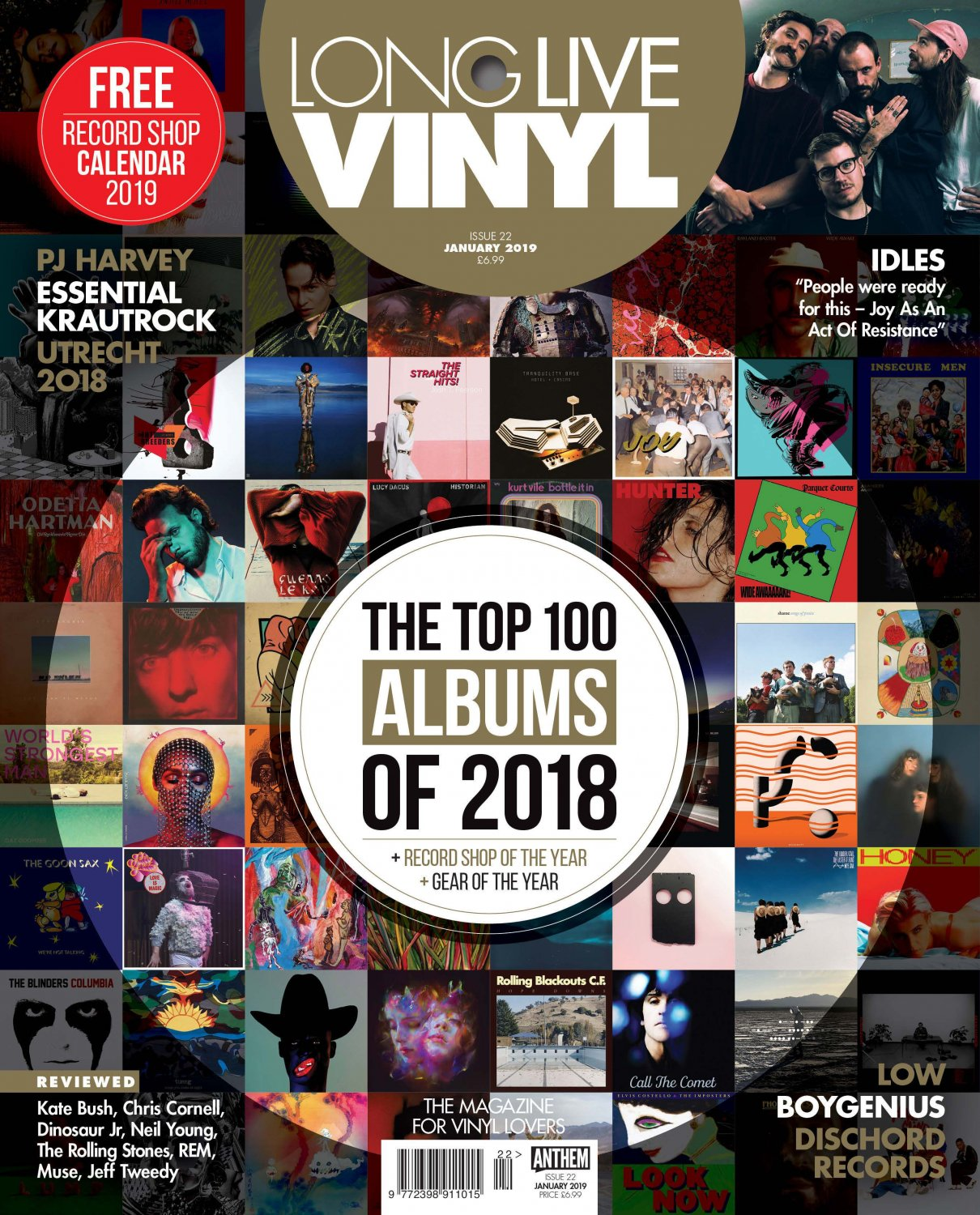 Long Live Vinyl Magazine Issue 22 (January 2019) The Top 100 Music Albums of 2018