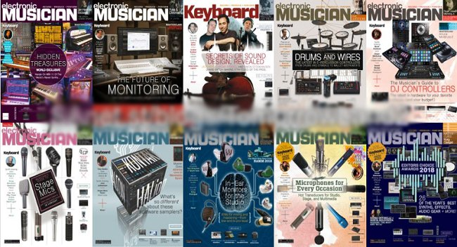 Electronic Musician Magazine - Full Year 2018 (12 Issue) Complete Collection [Digital]