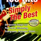 100 Hits Simply the Best (English / German Pop Rock) Sheet Music [Digital PDF]